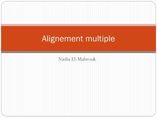 Alignement  multiple