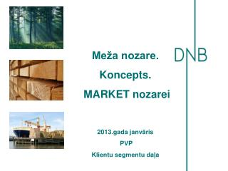 Meža nozare. Koncepts.  MARKET nozarei 2013.gada janvāris  PVP Klientu segmentu daļa