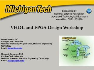 VHDL and FPGA Design Workshop