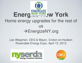 Energize New York Home energy upgrades for the rest of us  EnergizeNY.org