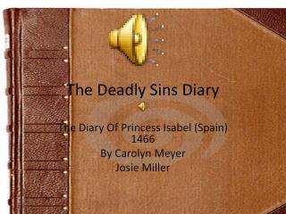 The Deadly Sins Diary