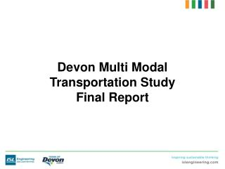 Devon Multi Modal Transportation Study Final Report