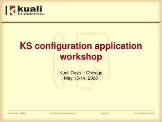 KS configuration application