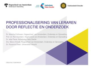 Professionalisering van leraren door reflectie en onderzoek