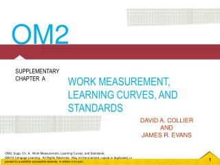 WORK MEASUREMENT, LEARNING CURVES, AND STANDARDS