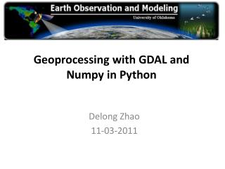 Geoprocessing  with  GDAL and  Numpy  in Python