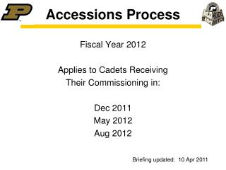 Accessions Process