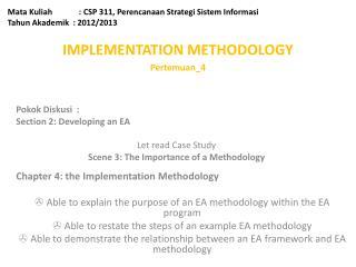 Mata Kuliah: CSP 311, Perencanaan Strategi Sistem Informasi Tahun Akademik  : 2012/2013
