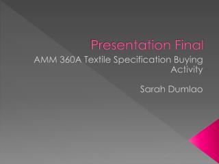 Presentation Final