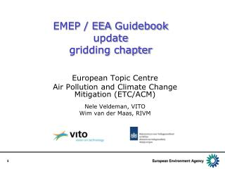 EMEP / EEA  Guidebook update  gridding chapter