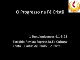 O Progresso na Fé Cristã