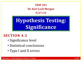 Hypothesis Testing: Significance