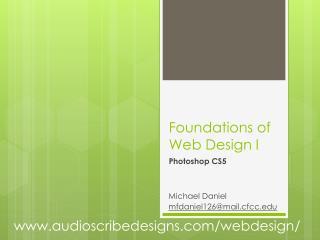 Foundations of Web Design I