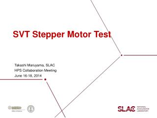 SVT Stepper Motor Test
