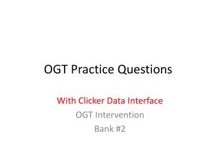 OGT Practice Questions