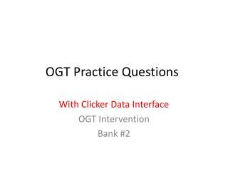 OGT Practice Questions