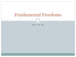 Fundamental Freedoms