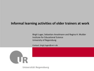 Informal learning activities of older trainers at work