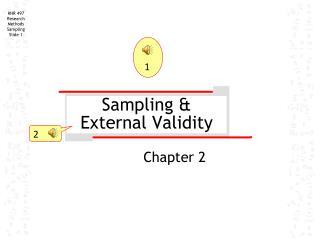 Sampling & External Validity