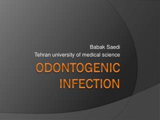 Odontogenic  infection