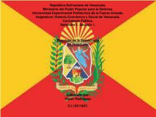 Republica Bolivariana de Venezuela. Ministerio del Poder Popular para la Defensa.