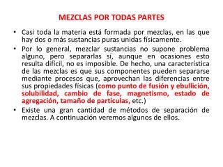 MEZCLAS POR TODAS PARTES