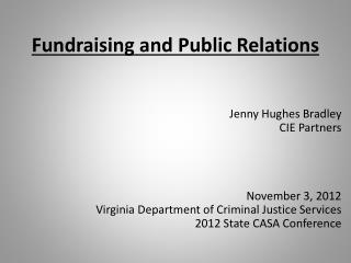 Fundraising and Public Relations