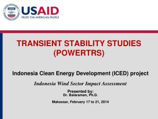 TRANSIENT STABILITY STUDIES (POWERTRS)