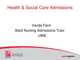 Health & Social Care Admissions
