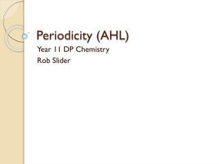 Periodicity (AHL)