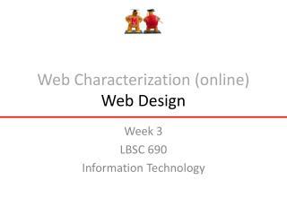 Web Characterization (online) Web Design