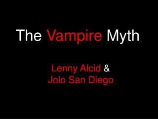 The  Vampire  Myth
