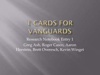 T-Cards for Vanguards