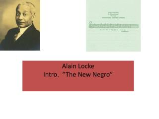 "Alain Locke Intro.  ""The New Negro"""