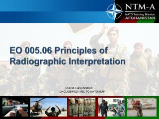EO 005.06 Principles  of Radiographic Interpretation