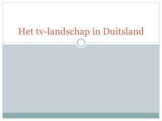 Het tv-landschap in Duitsland