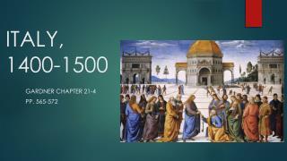 ITALY, 1400-1500