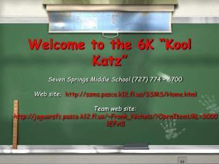 Welcome to the 6K  Kool Katz