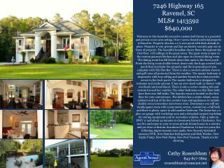 7246 Highway 165 Ravenel, SC MLS# 1413592 $640,000