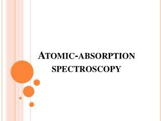 Atomic-absorption spectroscopy