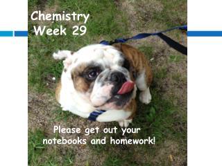 Chemistry Week 29