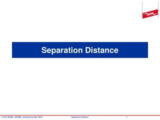 Separation Distance