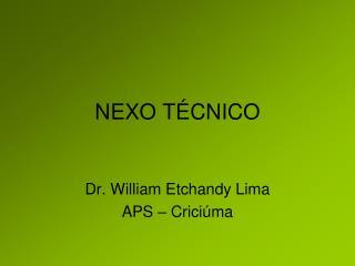 NEXO T CNICO