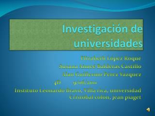 Investigación de universidades