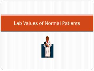Lab Values of Normal Patients