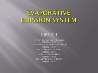 Evaporative emission system