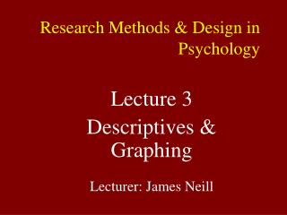 Research Methods  Design in Psychology