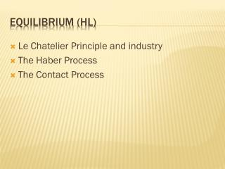 Equilibrium  (hl)