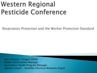 Western Regional Pesticide Conference