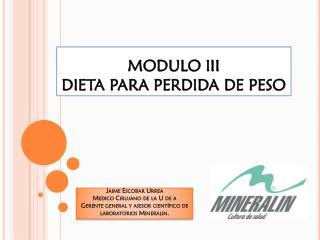 MODULO III DIETA PARA PERDIDA DE PESO